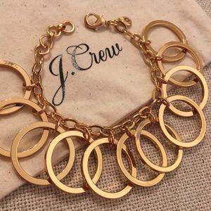 J. Crew Brass Ring Olympic Bracelet NWT